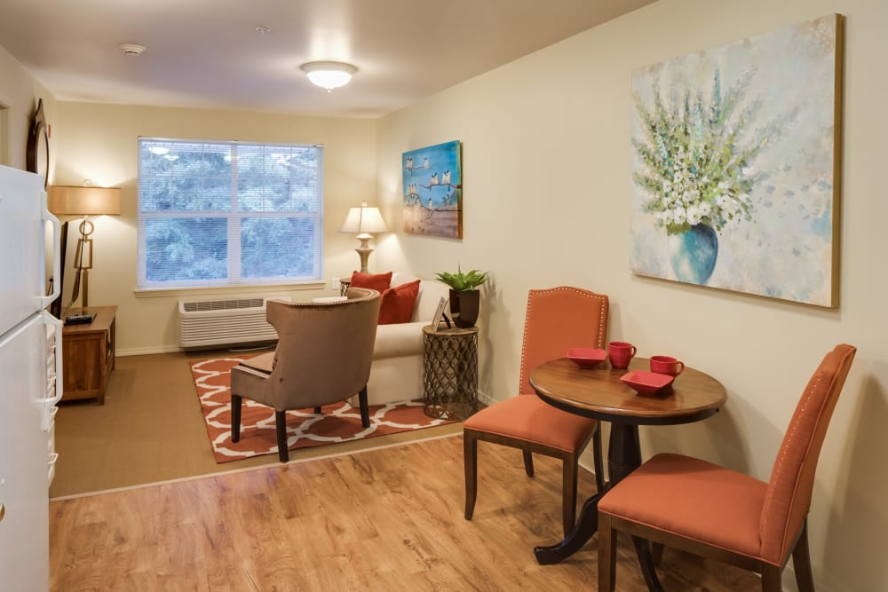 Living room at Dale Commons in Modesto, California