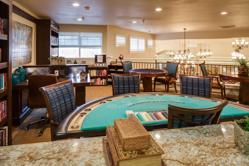 Large Activity Room Featuring Card Table At Dale Commons In Modesto California