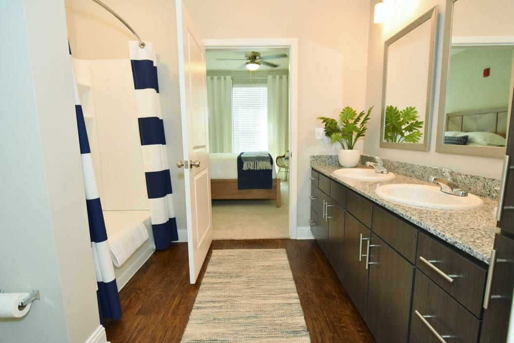 Double Vanities at The Reserve at Couret Farms in Lafayette, Louisiana
