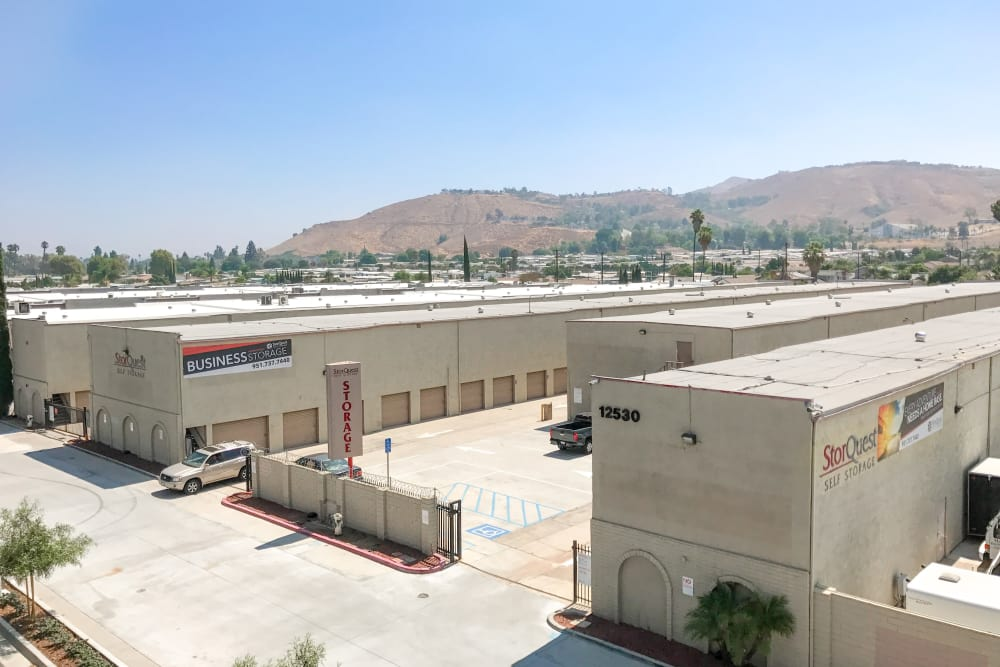 Exterior of Storage facility at StorQuest Self Storage in Riverside, CA