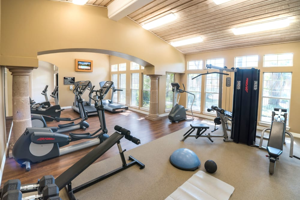 Fitness center at Estates on Frankford in Dallas, Texas