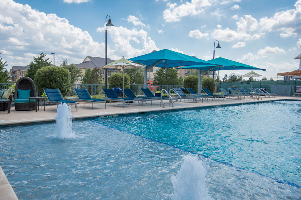 Beautiful swimming pool at Estates of Richardson in Richardson, Texas