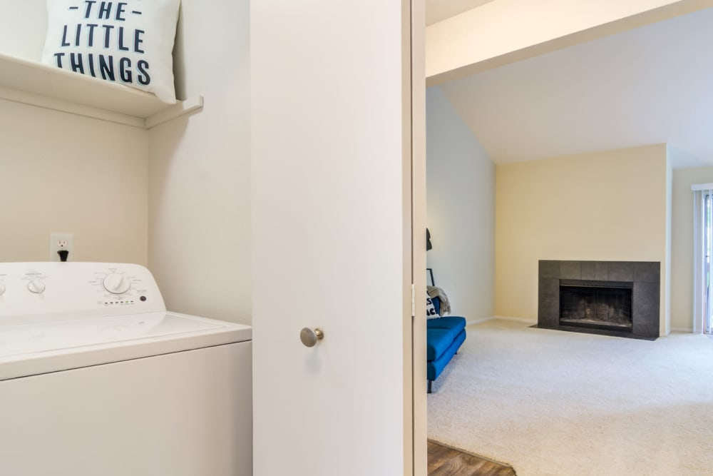 Laundry room at Sofi Lake Oswego in Lake Oswego, OR