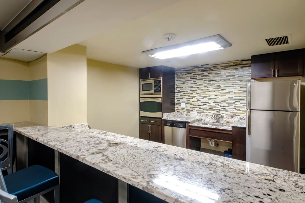 Club House Kitchen at The Warwick Apartments in Silver Spring