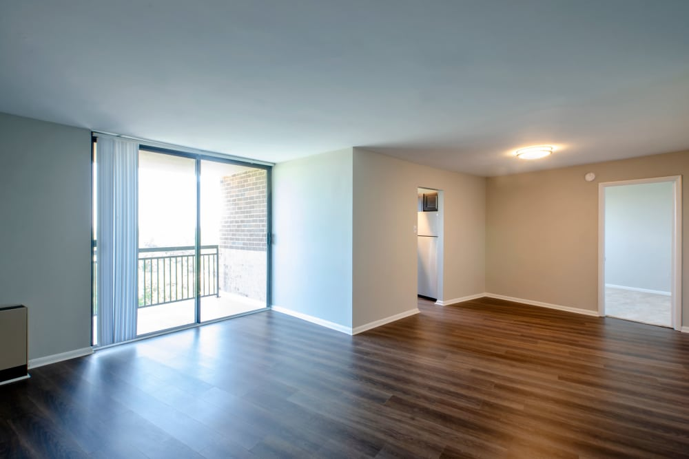 Tons of natural light at The Warwick Apartments
