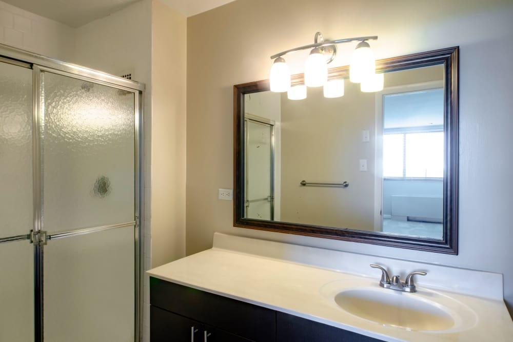 Bathroom at The Warwick Apartments