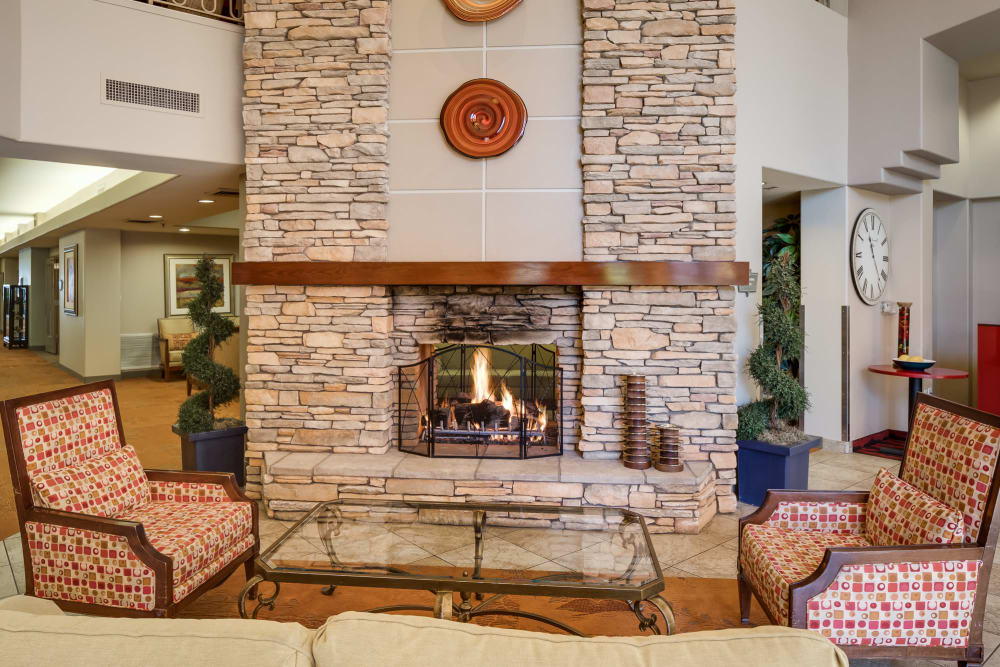 McDowell Village offers a community fireplace in Scottsdale, Arizona