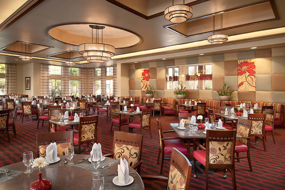 Large open dining area at McDowell Village in Scottsdale, Arizona