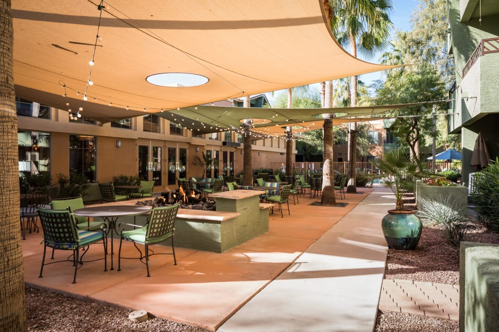 Covered Patio at McDowell Village in Scottsdale, Arizona