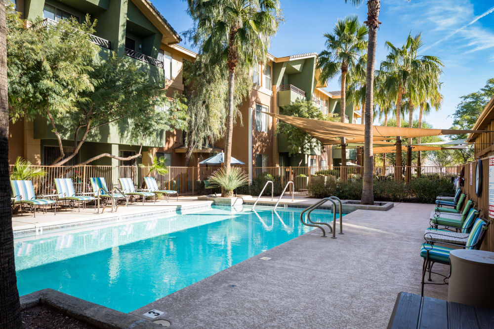 McDowell Village offers a sparkling swimming pool in Scottsdale, Arizona