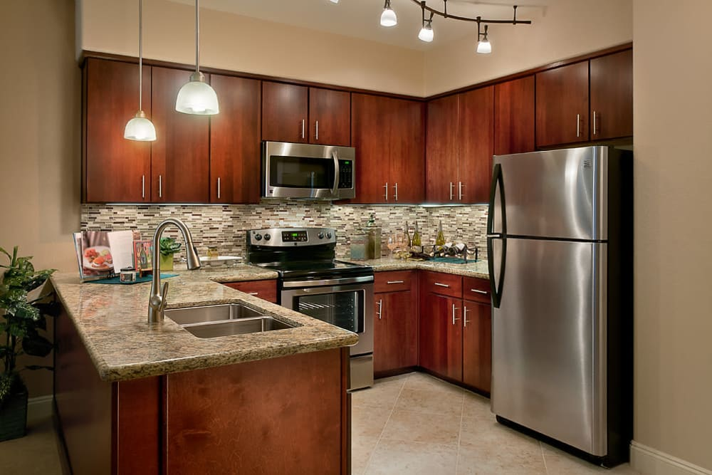 McDowell Village offers a kitchen with stainless-steel-appliances in Scottsdale, Arizona