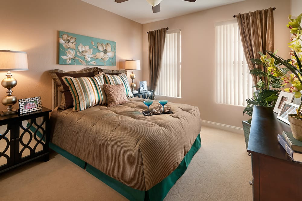 Cozy Bedroom at McDowell Village in Scottsdale, Arizona