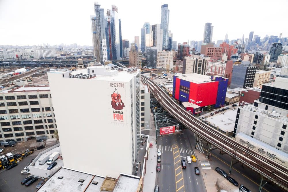 The Storage Fox building aerial view in Long Island City, New York