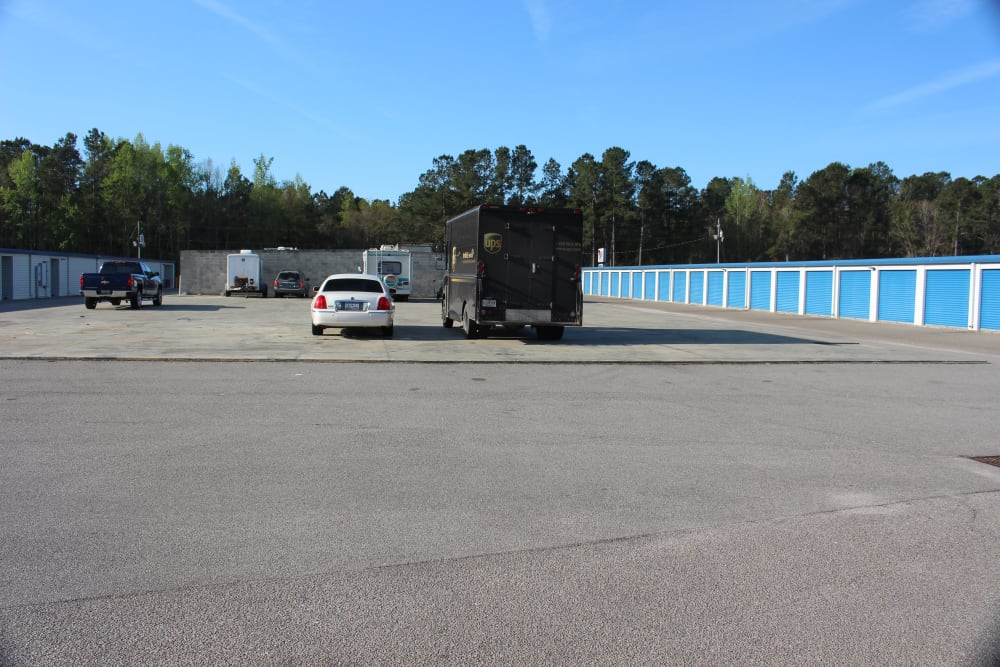 Car access at Monster Self Storage in Walterboro, South Carolina