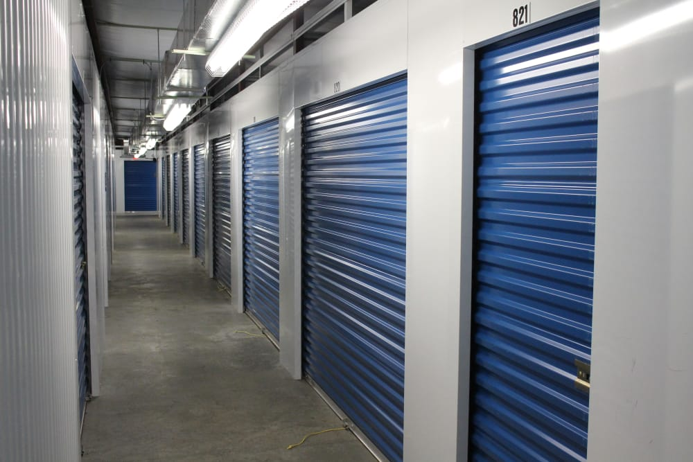 Interior hallway at Monster Self Storage in Walterboro, South Carolina