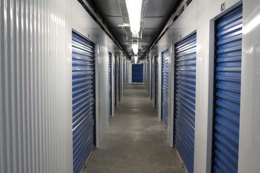 Indoor storage units at Monster Self Storage in Walterboro, South Carolina