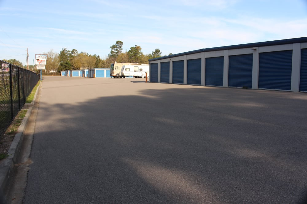 Driveway at Monster Self Storage in Walterboro, South Carolina