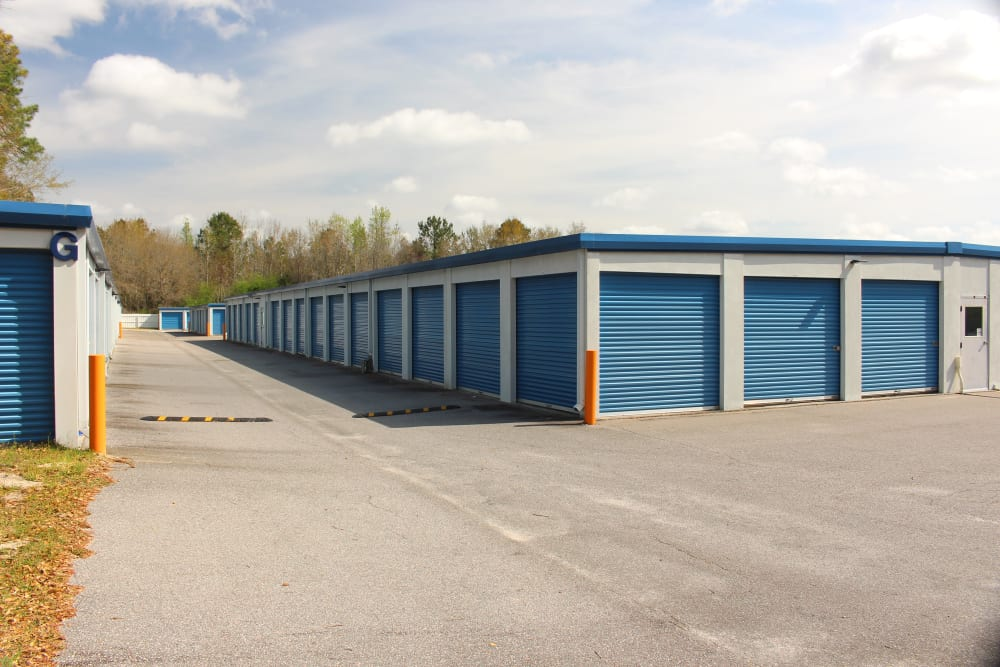 Extrior view of storage facility at Monster Self Storage in Walterboro, South Carolina