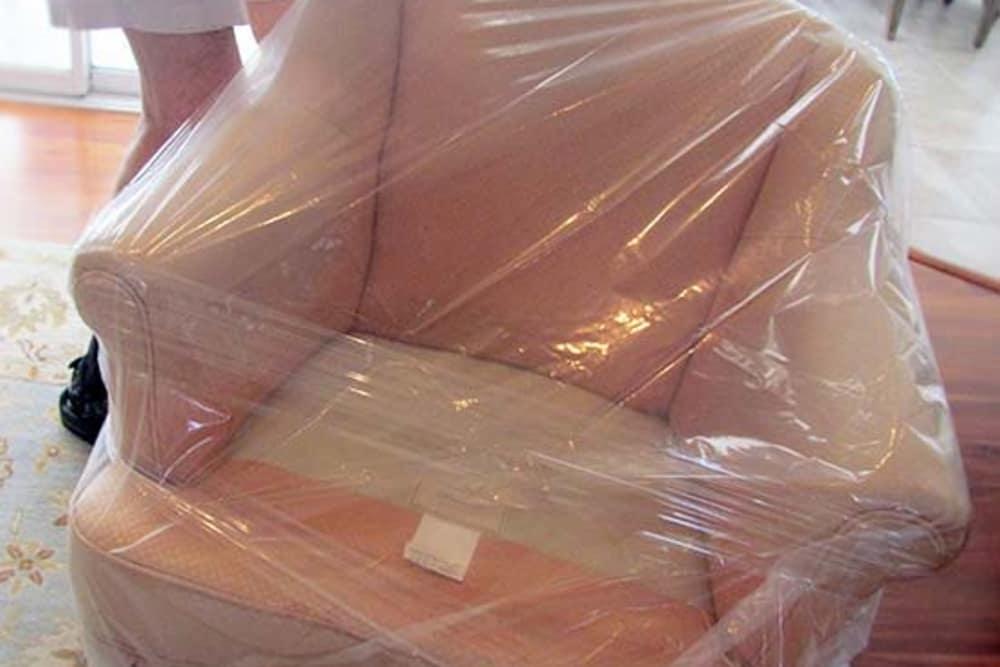 Chair prepared for storage in Palmdale, CA at AV Self Storage