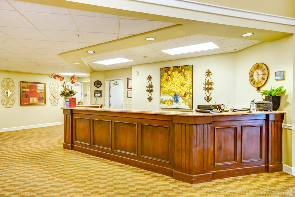 Lobby at The Commons at Union Ranch in Manteca, California