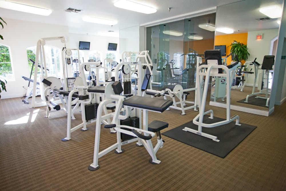 Spacious fitness center at Legends Lake Mary in Lake Mary, FL