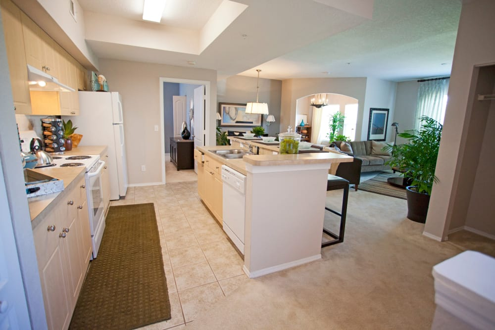 A view of the kitchen at Legends Lake Mary in Lake Mary, FL