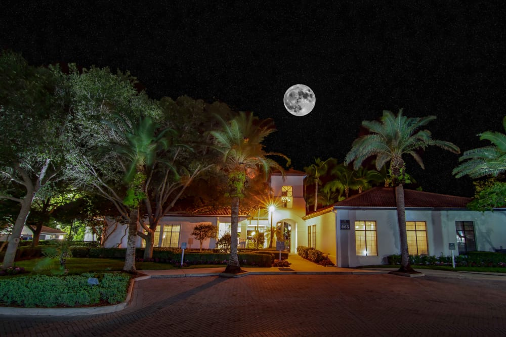 Full Moon over The Sophia at Abacoa in Jupiter, Florida