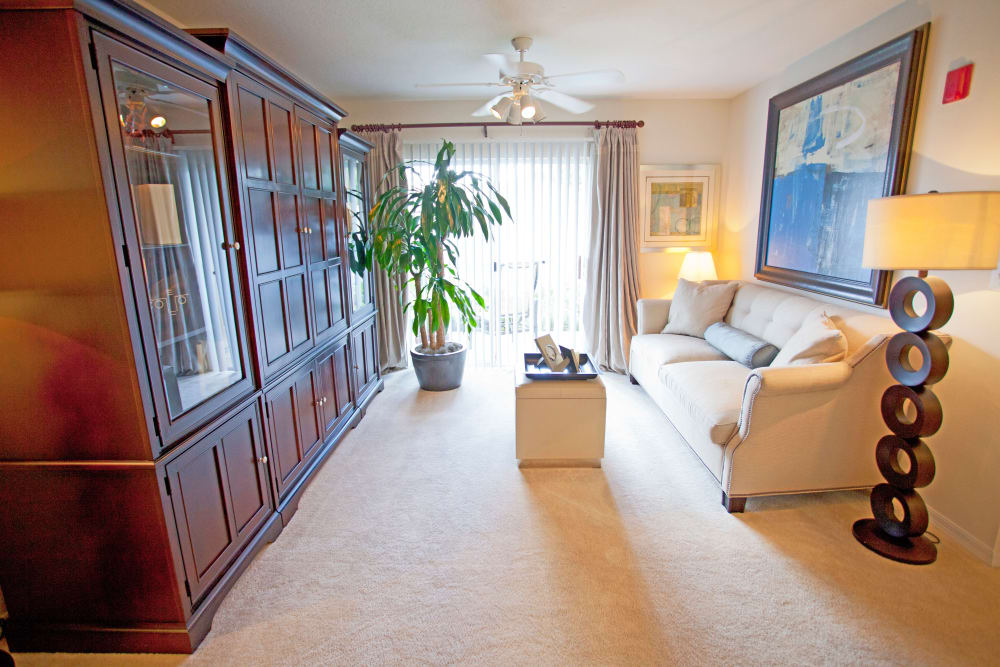 Model living room at Legends Winter Springs in Winter Springs, Florida