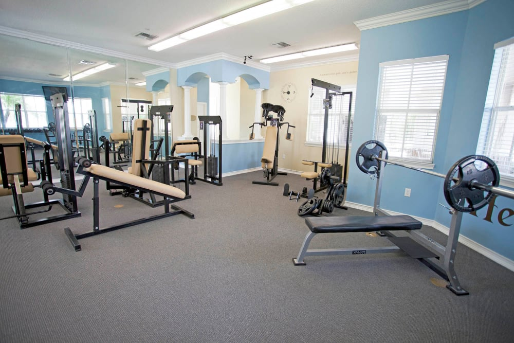 A view of the fitness center at Legends Winter Springs in Winter Springs, Florida
