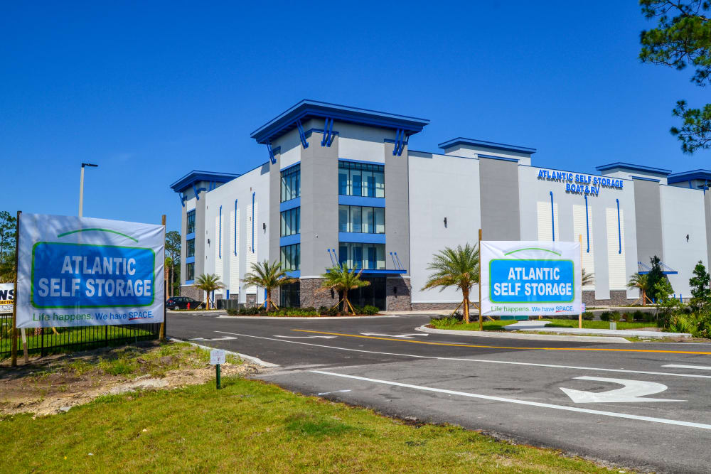 Facility entrance at Atlantic Self Storage in St. Augustine, Florida