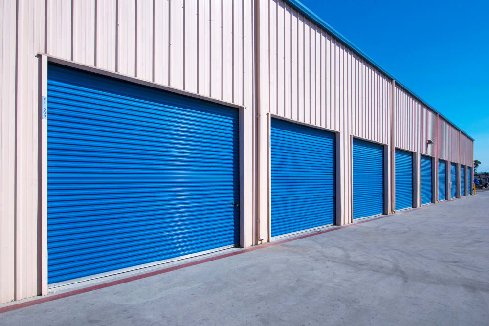 Drive up units at Otay Crossing Self Storage in San Diego, CA