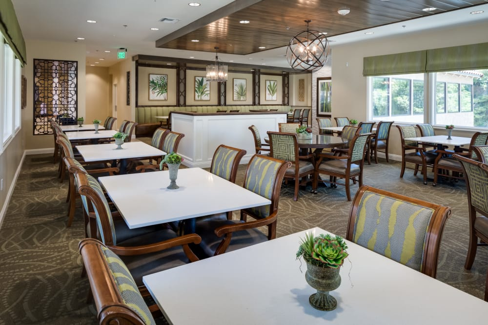 Our dining room at The Montera in La Mesa, California