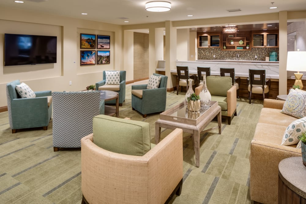 Our luxury common room at The Montera in La Mesa, California
