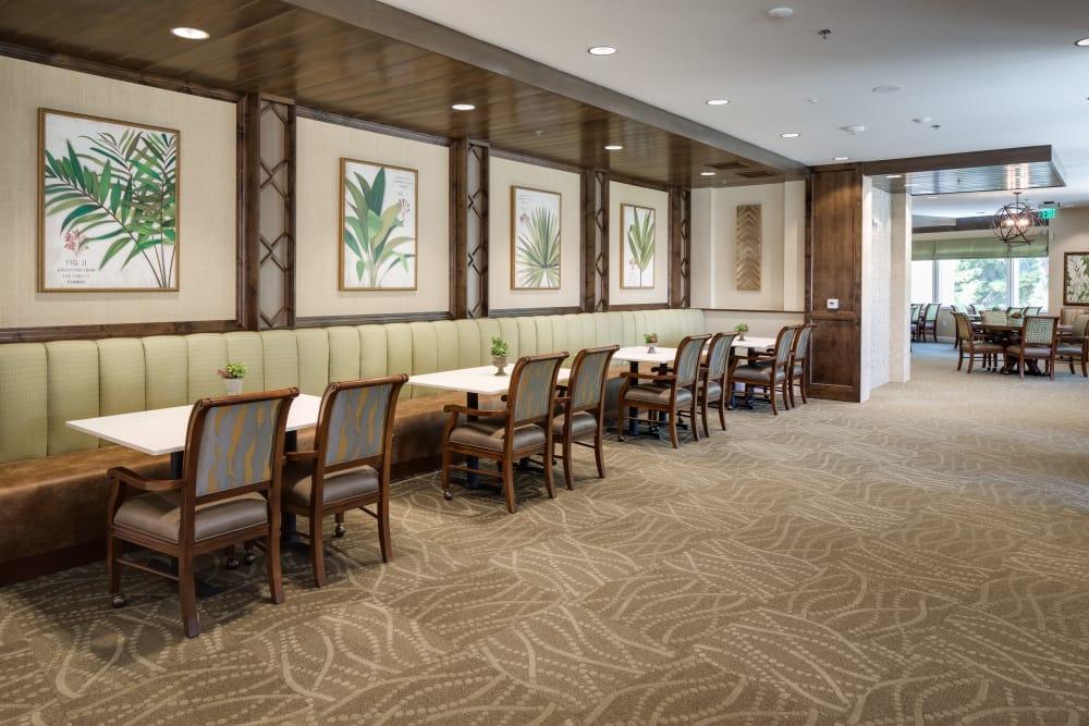 Dining room at The Montera in La Mesa, California