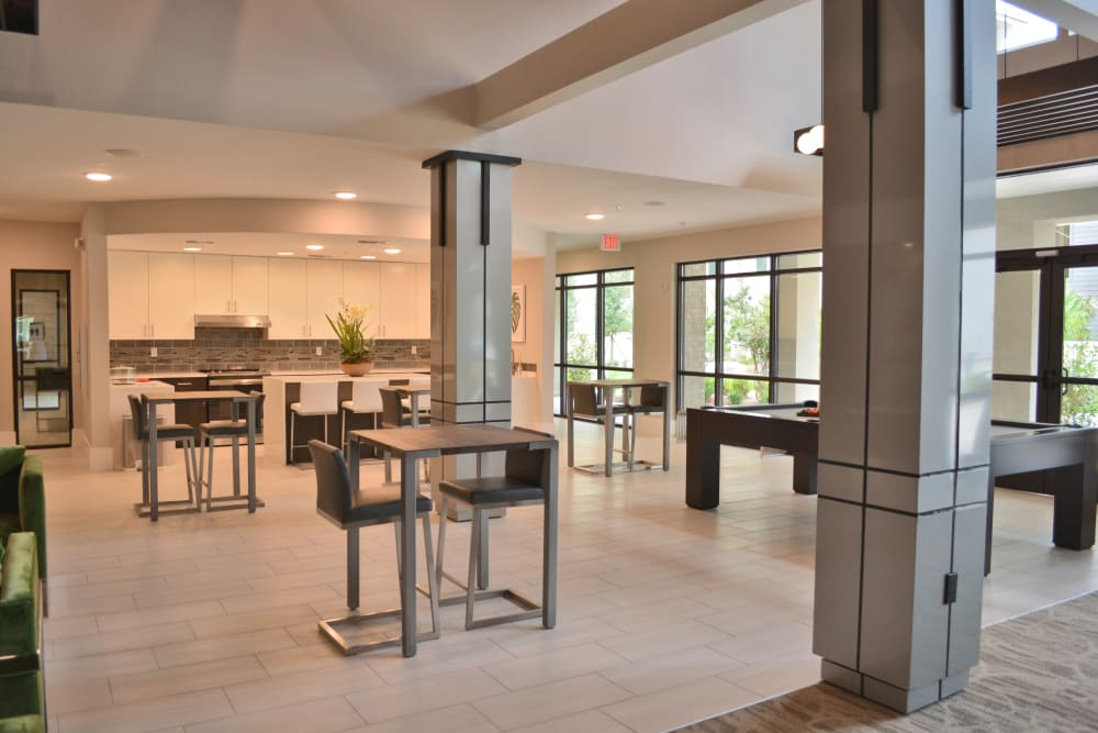Modern clubhouse at Park Rowe Village at Perkins Rowe in Baton Rouge, Louisiana