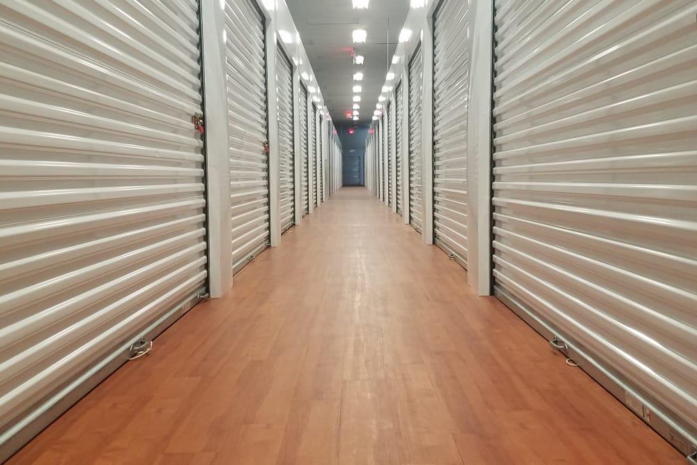 Interior storage units at Global Self Storage in Rochester, New York