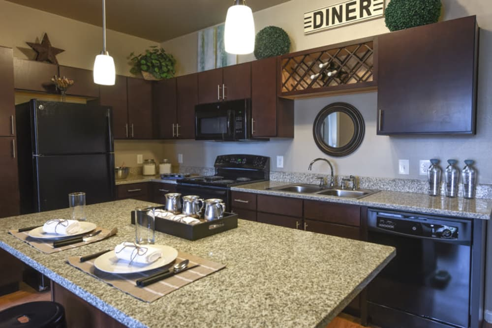 Modern kitchen at Springs at South Elgin in South Elgin
