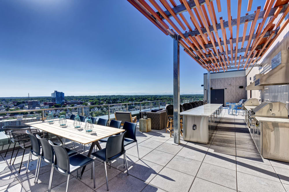 Vela on the Park offers private balconies in Stamford, Connecticut