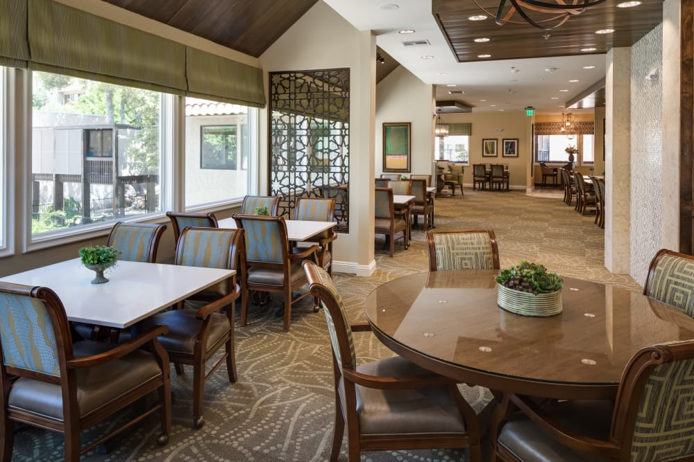 Our cozy dining hall at The Montera in La Mesa, California