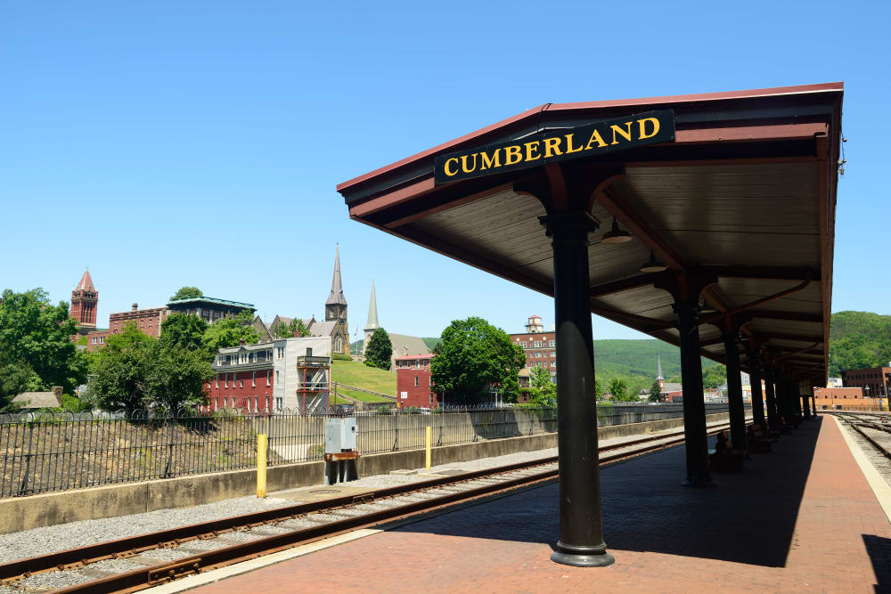 Cumberland train station near Old Towne Manor in Cumberland, MD
