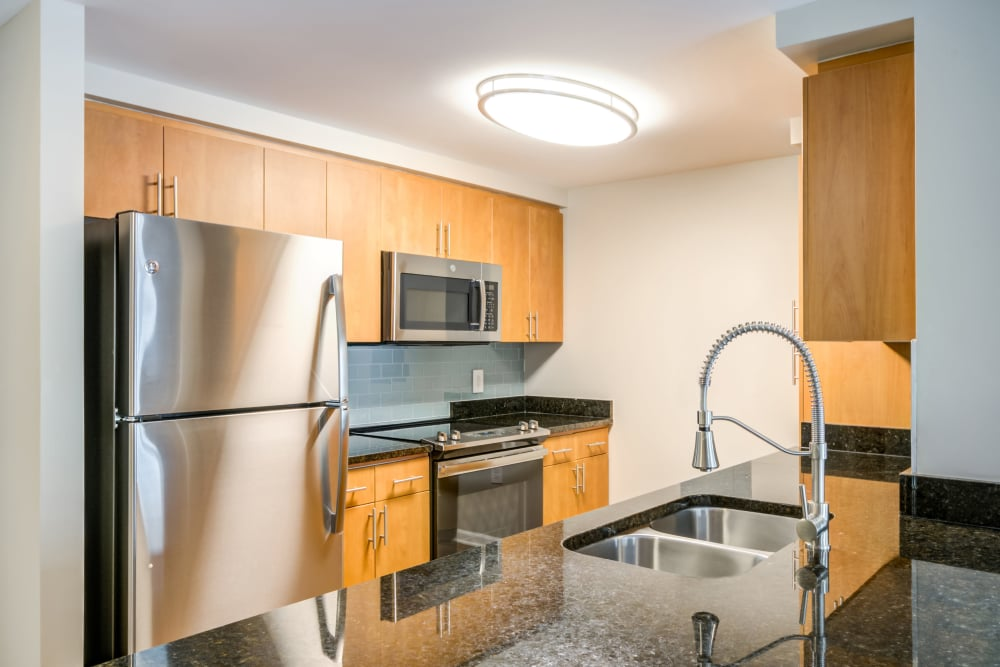 Apartment Kitchen at Bainbridge Companies in North Bethesda, MD