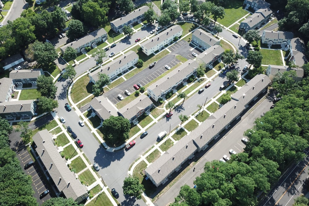 Aerial view at West Gate Townhomes
