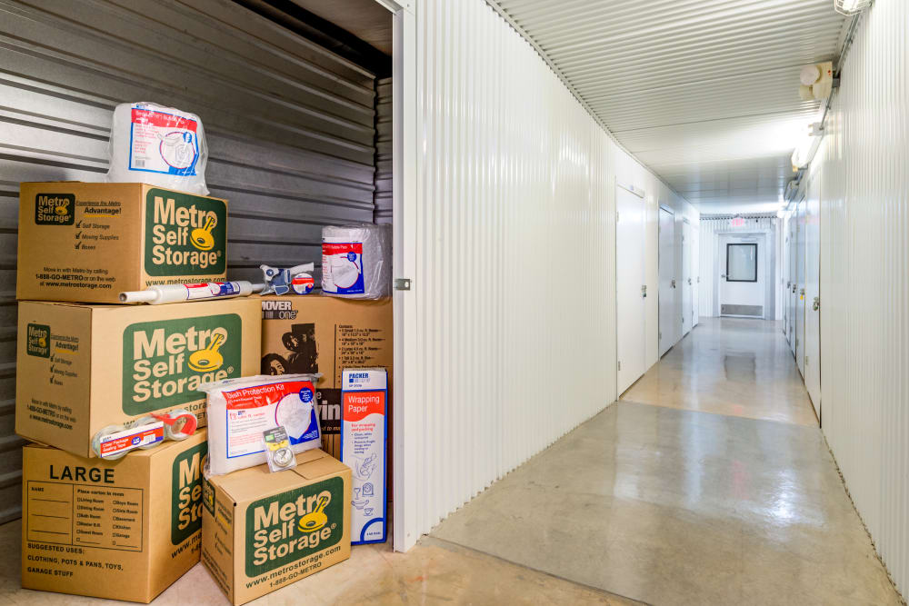 Indoor units hallway at Metro Self Storage in Plainview, Texas