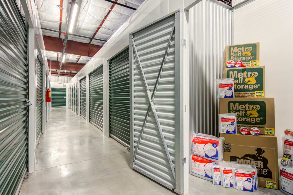 Indoor units at Metro Self Storage in Montgomery, Alabama