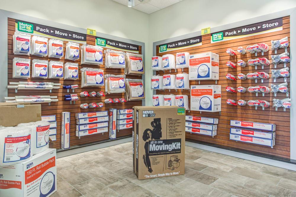 Packaging supplies at Metro Self Storage in Orlando, Florida