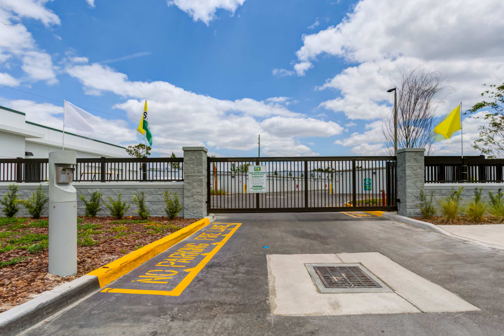 Security Gate at Metro Self Storage in Orlando, Florida