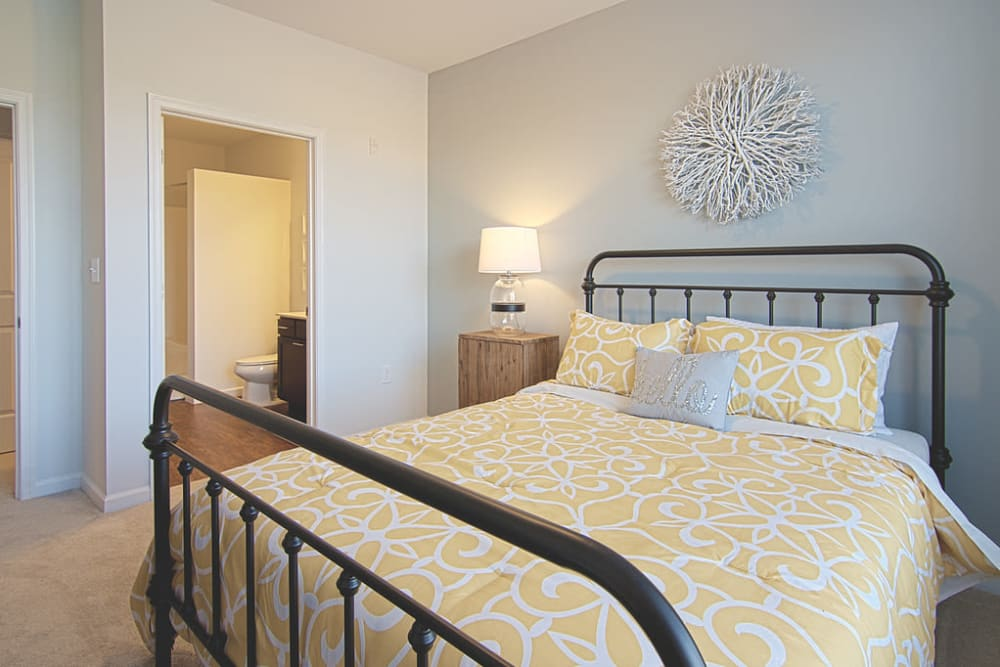 Bedroom at Nexus Luxury Apartments in Virginia Beach, Virginia