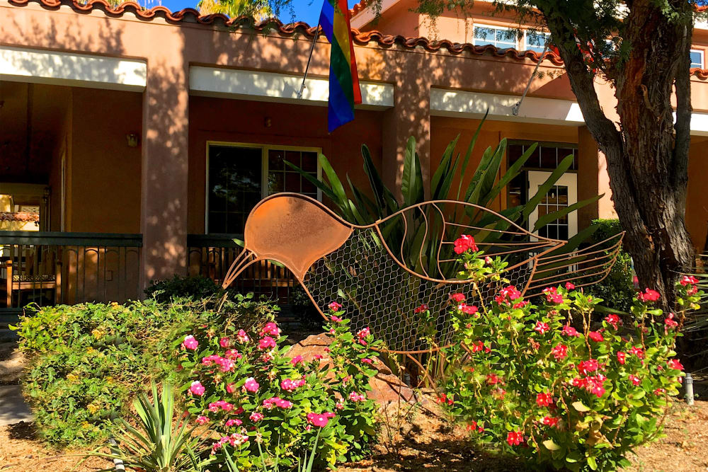Garden at Pacifica Senior Living Palm Springs in Palm Springs, California