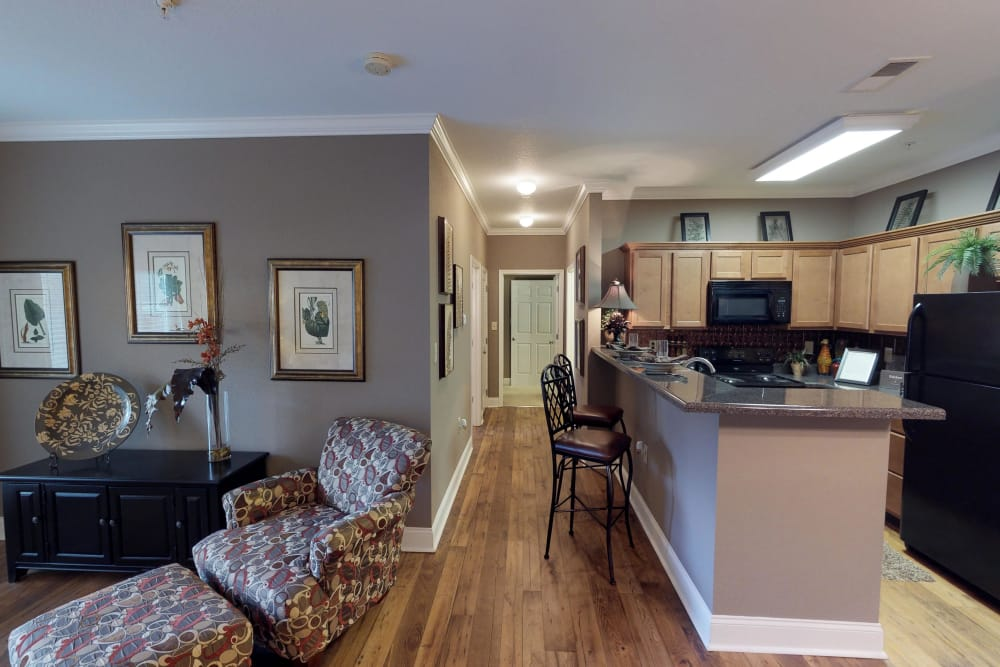 Kitchen and dining room at The Enclave of Hardin Valley in Knoxville, Tennessee