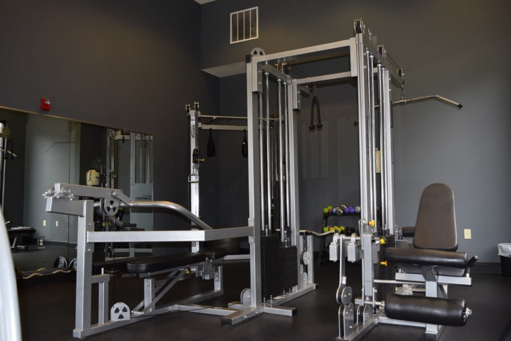 Fitness center at The Enclave of Hardin Valley in Knoxville, Tennessee